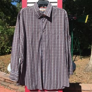 NEW Faconnable Long-Sleeved Cotton Shirt Size XL